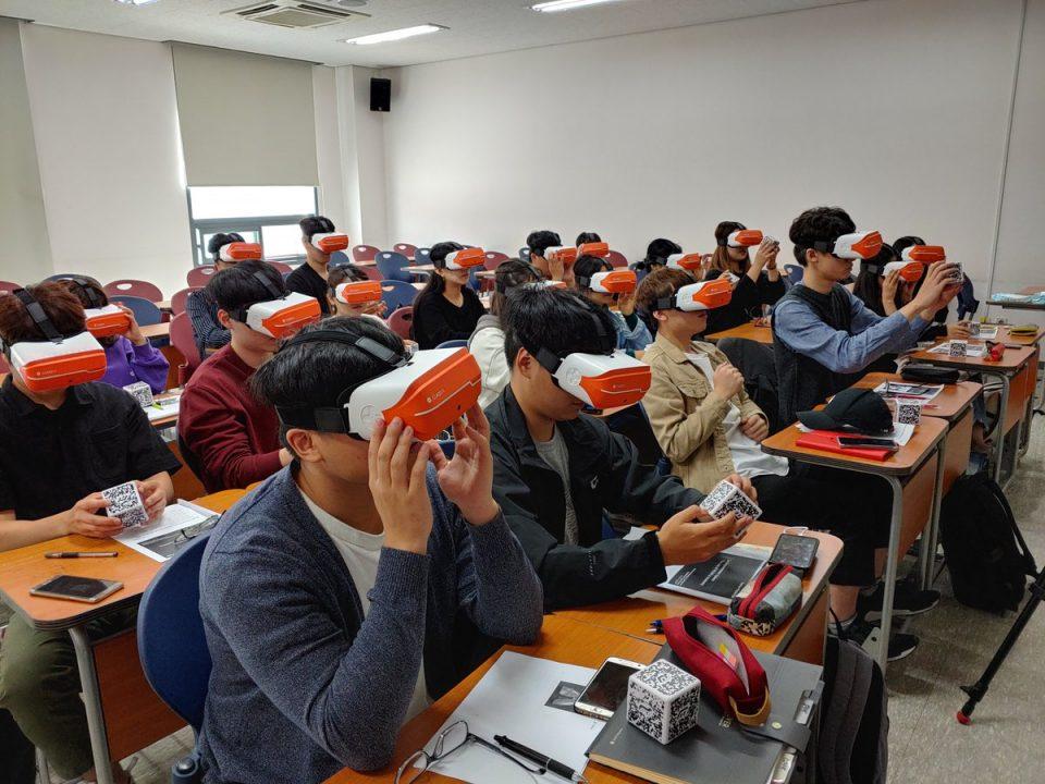 Realtà aumentata università classvr